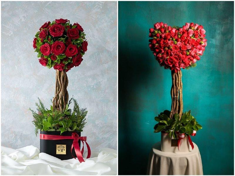 جعبه گل تک شاخه رز   هدیهای ماندگار برای خاصپسندان