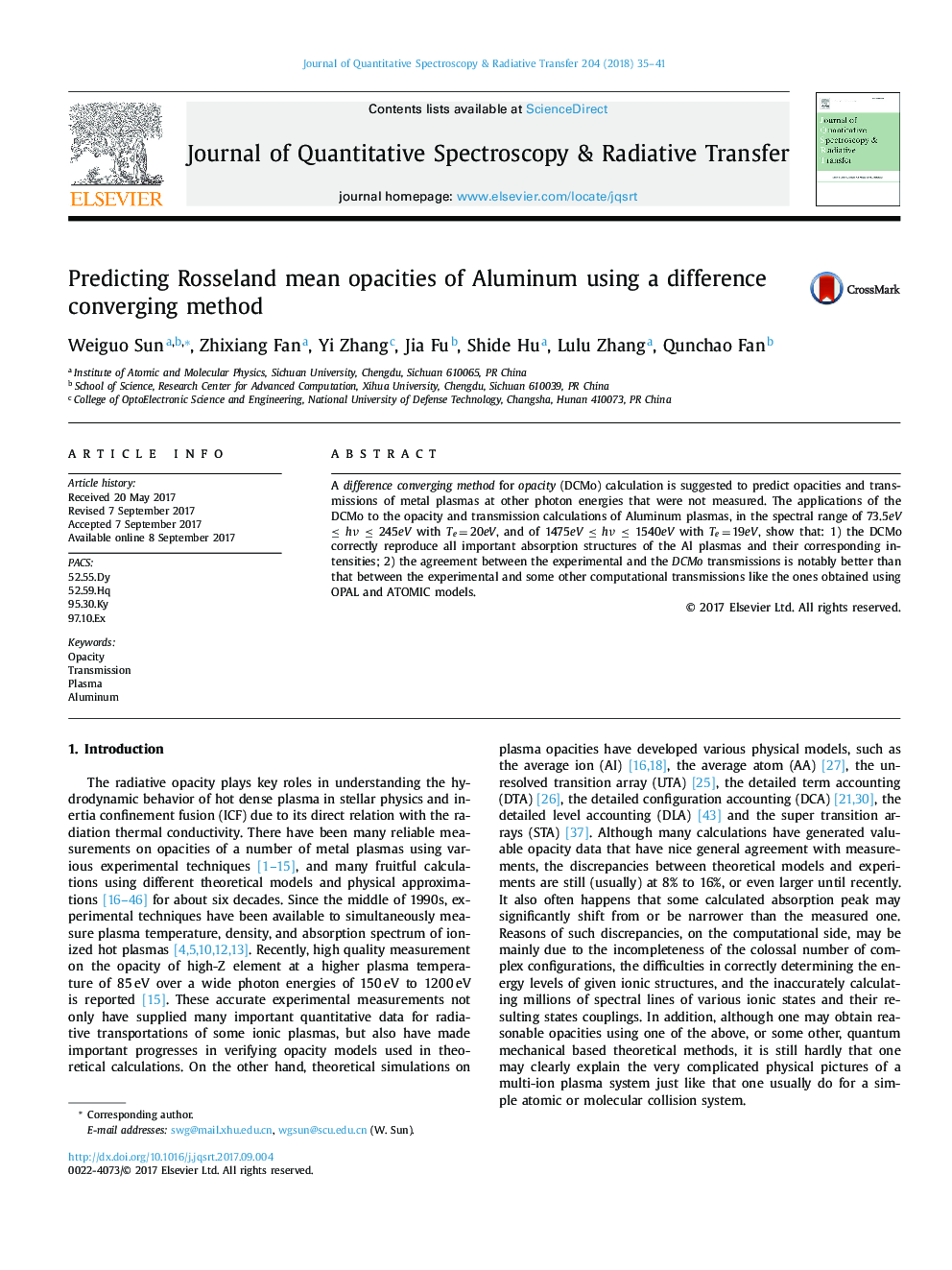 Predicting Rosseland mean opacities of Aluminum using a difference converging method