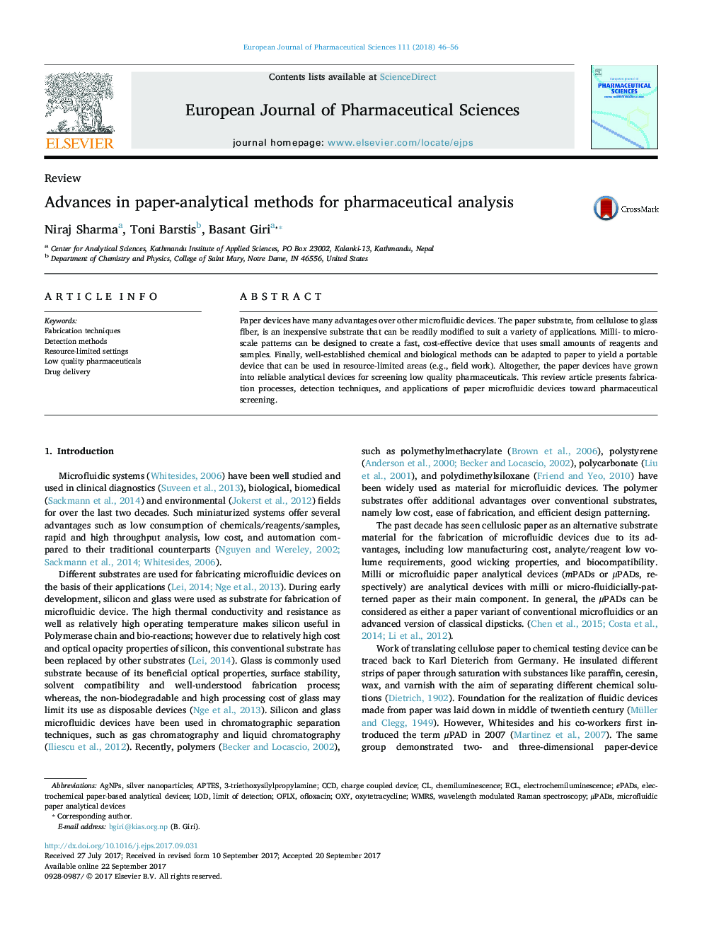 Advances in paper-analytical methods for pharmaceutical analysis
